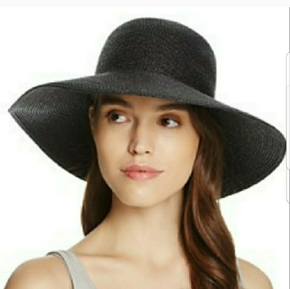 NEW Eric Javits Black Squishee Wide Brim Hat 9c3600ba3d4b